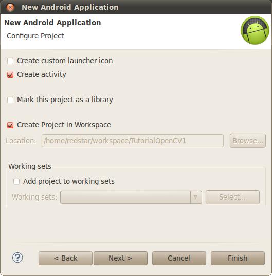 Creando nuevo proyecto Android